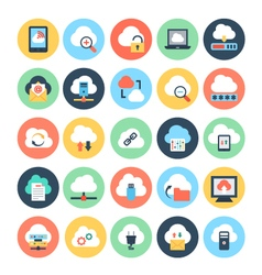 Cloud Computing Icons 1 vector image