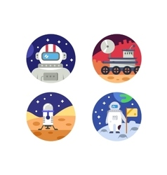 Cosmonaut icons pixel perfect vector image vector image