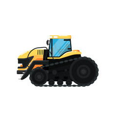 Crawler agriculture tractor vector