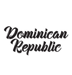 Dominican republic text design vector