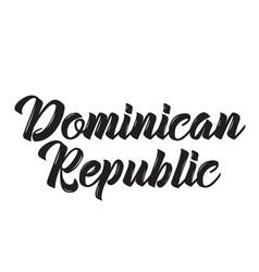 dominican republic text design vector image vector image