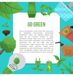 Ecology flat poster vector