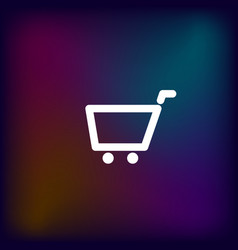 empty shopping cart icon vector image
