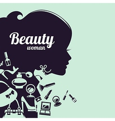 Fashion beautiful woman silhouette vector image vector image