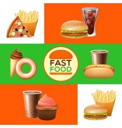 Fast food restaurant menu banners set vector image vector image