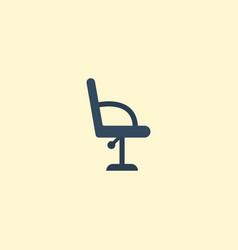 flat icon barbershop furniture element vector image vector image