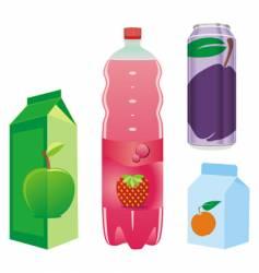 fruit juice recipients vector image vector image