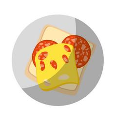full breakfast cartoon vector image