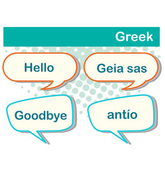 Greeting words in greek vector