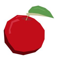 Isolated geometric apple vector