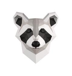 low poly raccoon vector image