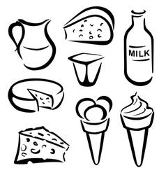 mleko vector image vector image