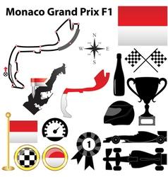 Monaco grand prix f1 vector