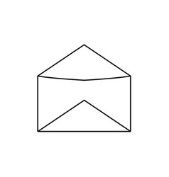 opened mail icon vector image vector image