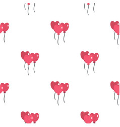 Pink balloons in shape of heart pattern seamless vector
