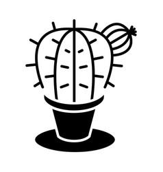 plant cactus icon black sig vector image vector image
