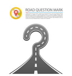 road question mark vector image