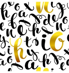 Seamless pattern with hand drawn letters vector