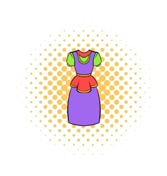 Traditional netherlands costume icon comics style vector