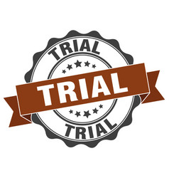Trial stamp sign seal vector