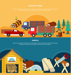 two different lumberjack banner set vector image vector image