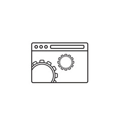 Website optimization icon seo concept symbol vector