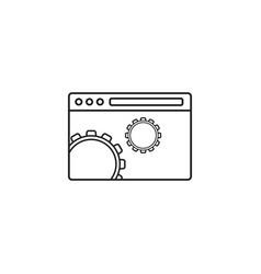 Website optimization icon seo concept symbol vector