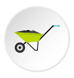 Wheelbarrow icon circle vector