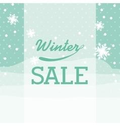 winter sale design vector image