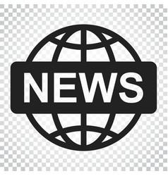 World news flat icon news symbol logo business vector