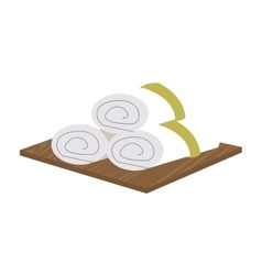 Asian spa towels icon vector