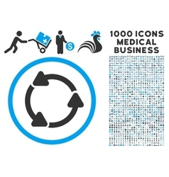 Rotate ccw icon with 1000 medical business vector