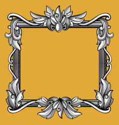 Decorative victorian vintage baroque art engraved vector