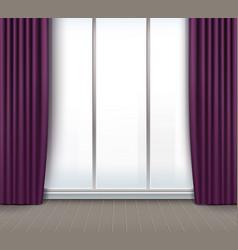 Interior with window vector