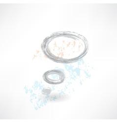 Thinking bubble grunge icon vector image