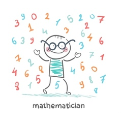 Mathematician is the rain of numbers vector