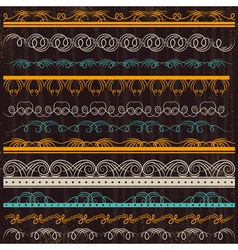 Set of lace paper border frame vector