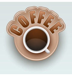 Label of coffee symbol for menu vector