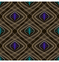 Seamless beautiful art deco pattern ornament vector