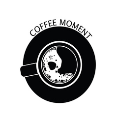 Coffee moment black vector