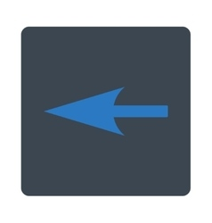 Sharp left arrow flat smooth blue colors rounded vector