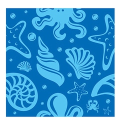 sea seamless pattern vector image