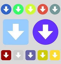 Download sign downloading flat icon load label 12 vector