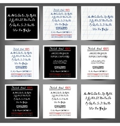 Set of handwritten english alphabets vector