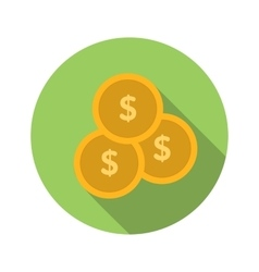 Coins flat icon vector