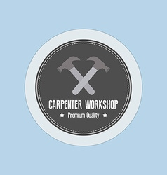 Carpenter label vector