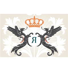 Vintage heraldry background vector