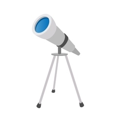Telescope cartoon icon vector