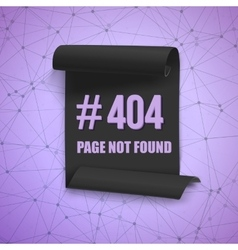 Error 404 futuristic wireframe banner page vector