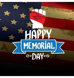 Happy memorial day background vector